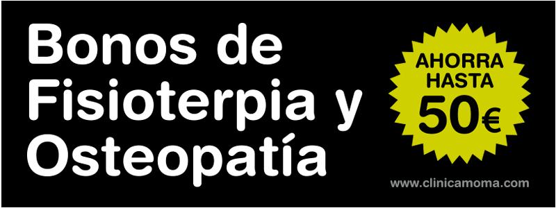 Bonos de fisioterapia y osteopatía en Santomera Murcia