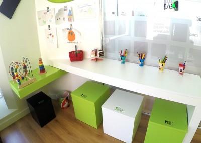 Sala de espera para los más pequeños